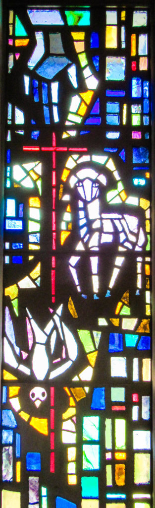 Holy Trinity Stained Glass Window at First Church Quakertown