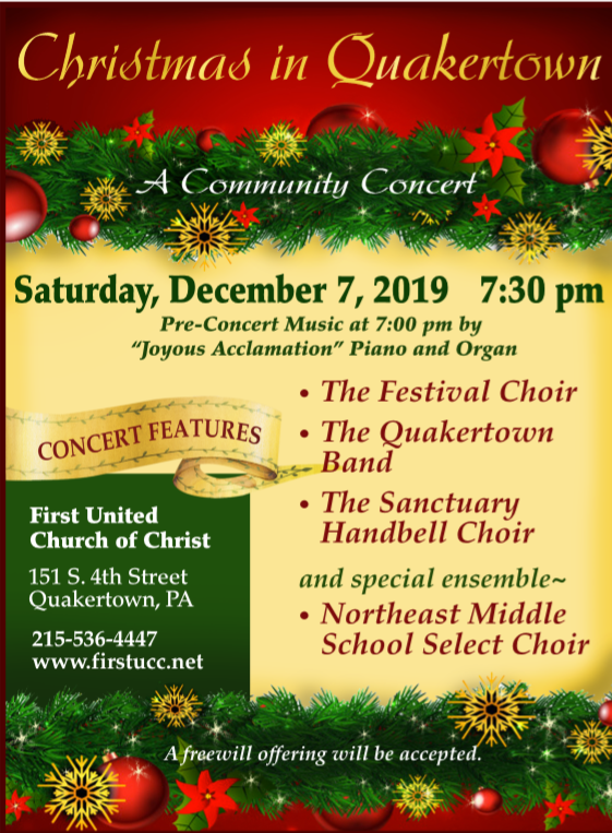 """Ucc 2021 """"Christmas Eve"""" """"Order Of Worship"""" Christmas In Quakertown First Church Quakertown"""